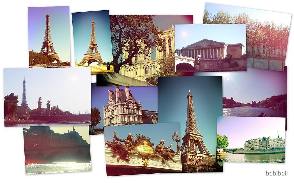 Vintage Paris Collage by Claire Dimond