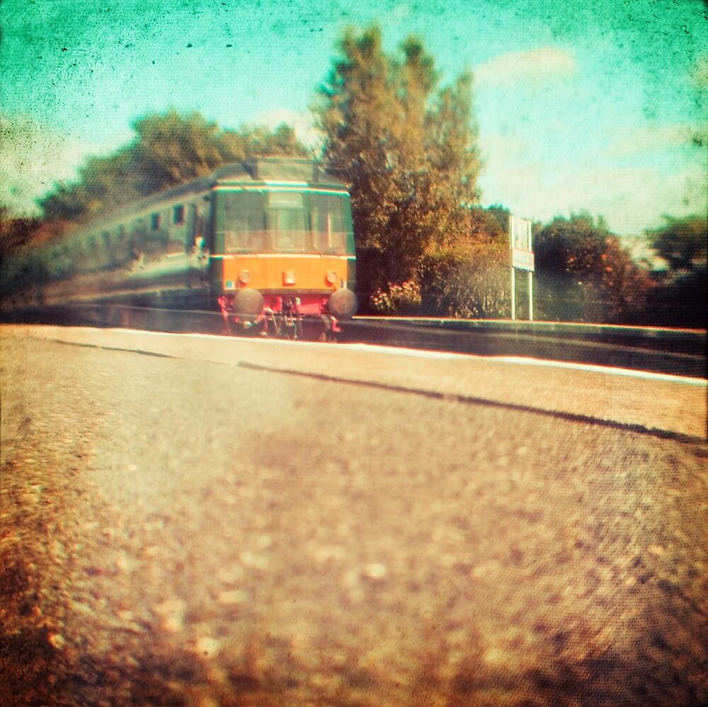Vintage Diesel Train by Sharonroseart