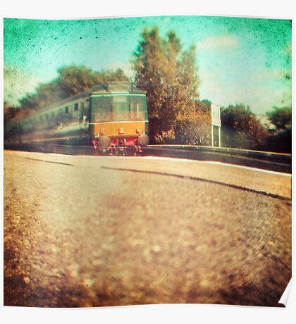 Vintage Diesel Train Poster