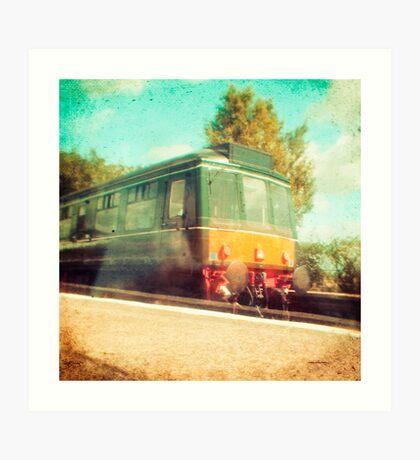 Vintage Diesel Train Art Print