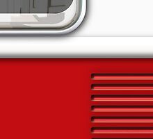 White Red Camper Van by Ra12