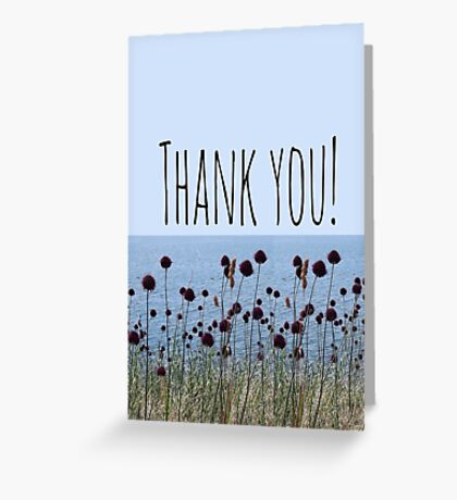 Thank you wild flowers Greeting Card