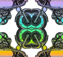 Motorcycle Pattern by roccoyou