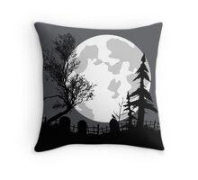 Haunted Yard v1 Throw Pillow