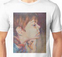 Double Pensive - Portrait Of A Boy Unisex T-Shirt