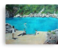Bus stop - Capri style Canvas Print