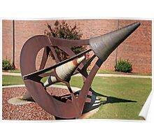 """Sculpture, """"Central Axis"""" Poster"""