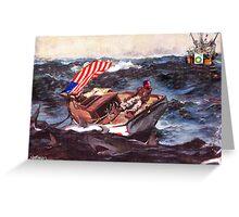 Obama at Sea Greeting Card