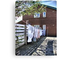 Another Boring Washday Canvas Print