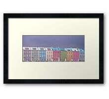 'Rainbow Row' Framed Print