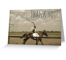 Thank you cowboy Greeting Card
