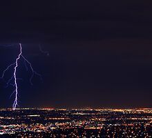 Lightning in West Jordan by Ryan Houston
