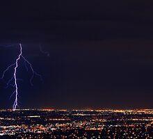 Lightning in West Jordan by Ryan Houston