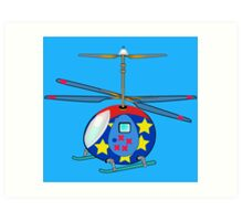 Mikie the Helicopter Art Print