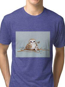Baby Barn Owl Tri-blend T-Shirt
