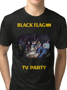 Black Flag - TV Party Tri-blend T-Shirt