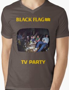 Black Flag - TV Party Mens V-Neck T-Shirt