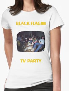 Black Flag - TV Party Womens Fitted T-Shirt