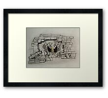 Breaking the Walls into Darkness  Framed Print