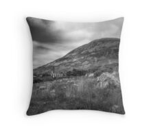 Mount Errigal and the Derelict Church Throw Pillow