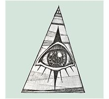 All Seeing Eye Green Background by writocified