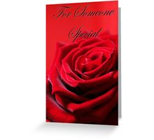 Special Red Rose Card. Greeting Card