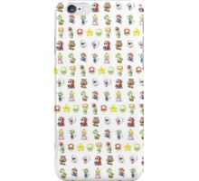 Mario Characters in Watercolor iPhone Case/Skin