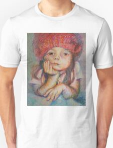 Red Hat - Portrait Of A Girl T-Shirt