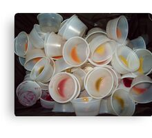 used cups Canvas Print