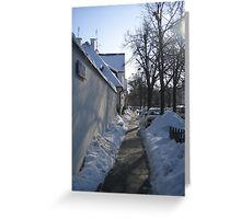 Winter in Zoliborz district #2, Warsaw, Poland Greeting Card
