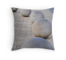 Stone Globes Throw Pillow