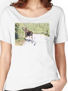 Bull Moose Munching in The Road Women's Relaxed Fit T-Shirt