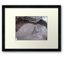 freezing creek Framed Print