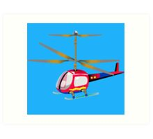 Henry the Helicopter Art Print