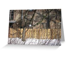 Winter in Warsaw, Wola district Greeting Card
