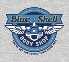 Blue Shell Auto Body One Piece - Short Sleeve
