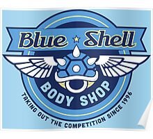 Blue Shell Auto Body Poster