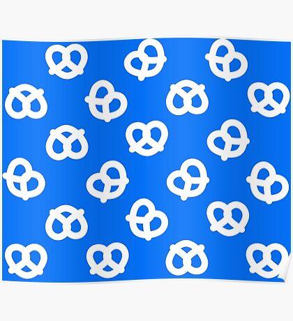 Pretzels - Blue Poster