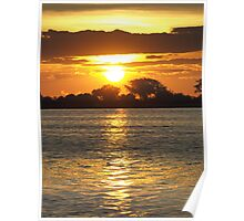 Zambia Sunset Poster
