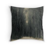 Forest In Winter Throw Pillow