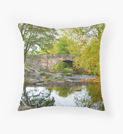 Skelwith Bridge Nr Ambleside  Throw Pillow