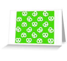 Pretzels - Green Greeting Card