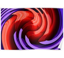 Red and Purple Swirl Poster