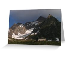 Tour du Mont Blanc - Refugio Elisabetta, Italian Alps Greeting Card