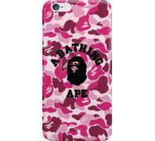 BATHING APE PINK CAMO iPhone Case/Skin