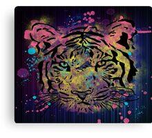 tiger feline fashion Canvas Print