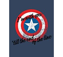 I'm With You Shield Photographic Print