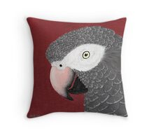 Timneh African Grey Parrot Throw Pillow