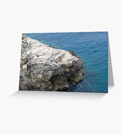 Rocky Coast and Sea Greeting Card