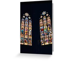 Strasbourg Cathedral Stained Glass Greeting Card
